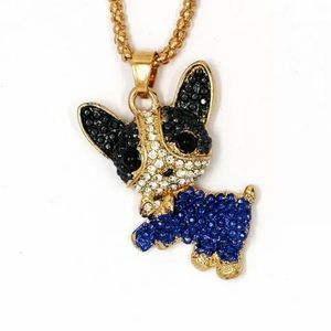 NWT•Betsey Black & Blue Puppy Long Necklace